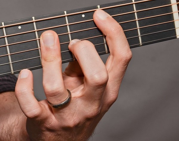 The B bar chord from the front