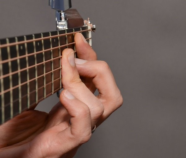 The B bar chord from the side