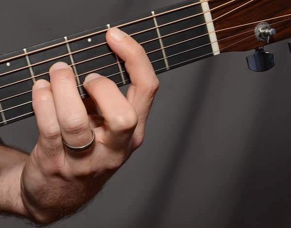 Bm bar chord from the front