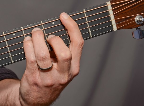 F# chord from the front