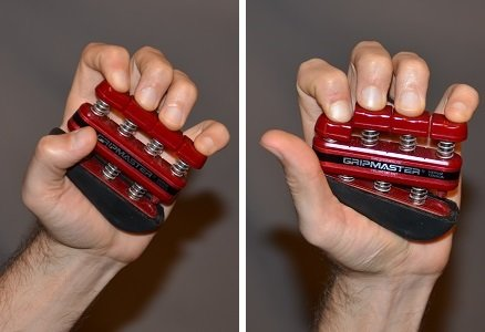 Exercise using the gripmaster with fingertips