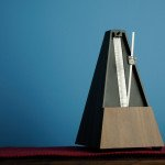 A metronome on a desk