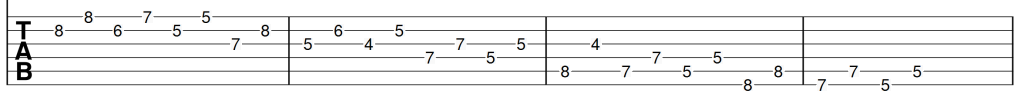 Descending 3 2 sequence of c major scale