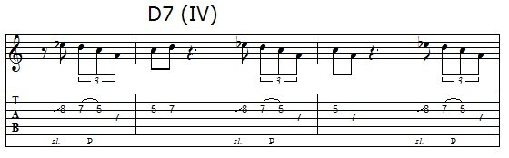 Phrase 2 of the blues solo