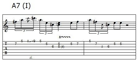 Phrase 8 of the blues solo