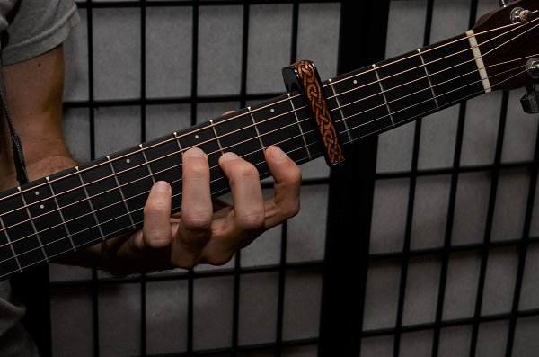 F chord on 5th fret with capo